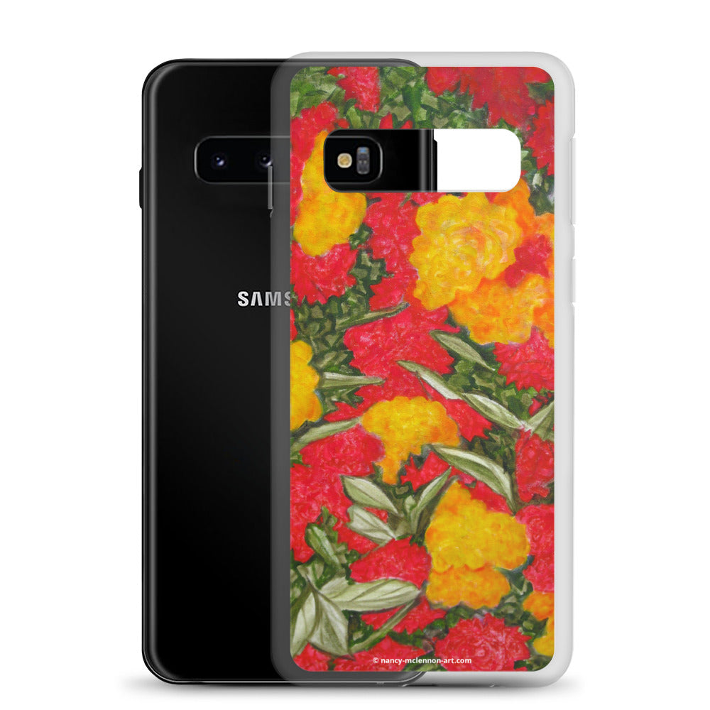 Samsung Case - Red and Yellow Roses - FREE SHIPPING