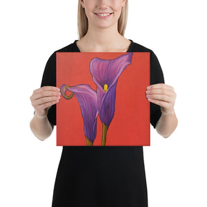 Canvas Print - Purple Calla Lilies - FREE SHIPPING
