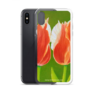iPhone Case - Two tulips on green - FREE SHIPPING