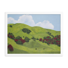 Load image into Gallery viewer, Framed poster - Sonoma Hills in winter - FREE SHIPPING