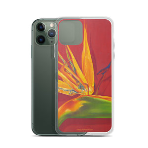 iPhone Case - Bird of paradise on rust - FREE SHIPPING