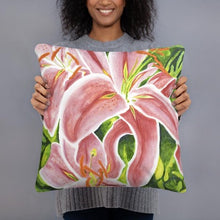 Load image into Gallery viewer, Decorative Pillow - Stargazer Lily