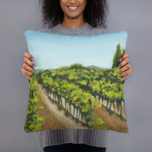 Decorative Pillow - Napa Valley vineyard before the harvest - FREE SHIPPING