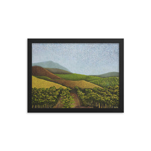 Framed poster - Napa Valley Vines in the fall - FREE SHIPPING
