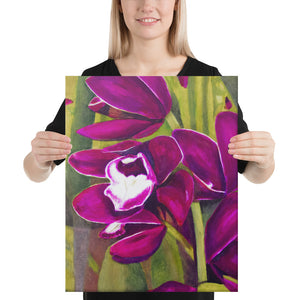 Canvas Print - Dark Magenta Orchid - FREE SHIPPING