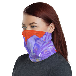 Face Cover - Iris Explosion on red - FREE SHIPPING
