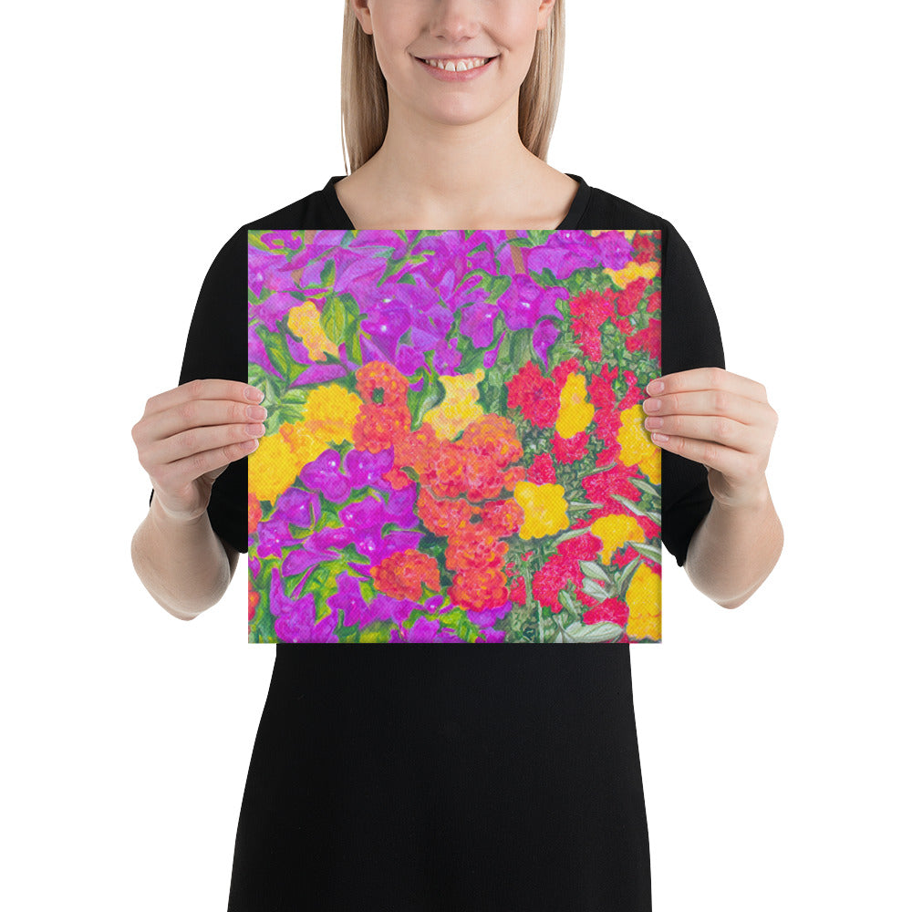 Canvas Print - Rainbow Garden - FREE SHIPPING