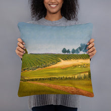 Load image into Gallery viewer, Decorative Pillow - Sonoma Chardonnay vineyard with footbridge - FREE SHIPPING