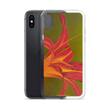 Load image into Gallery viewer, iPhone Case - Ruby Spider Daylily - FREE SHIPPING