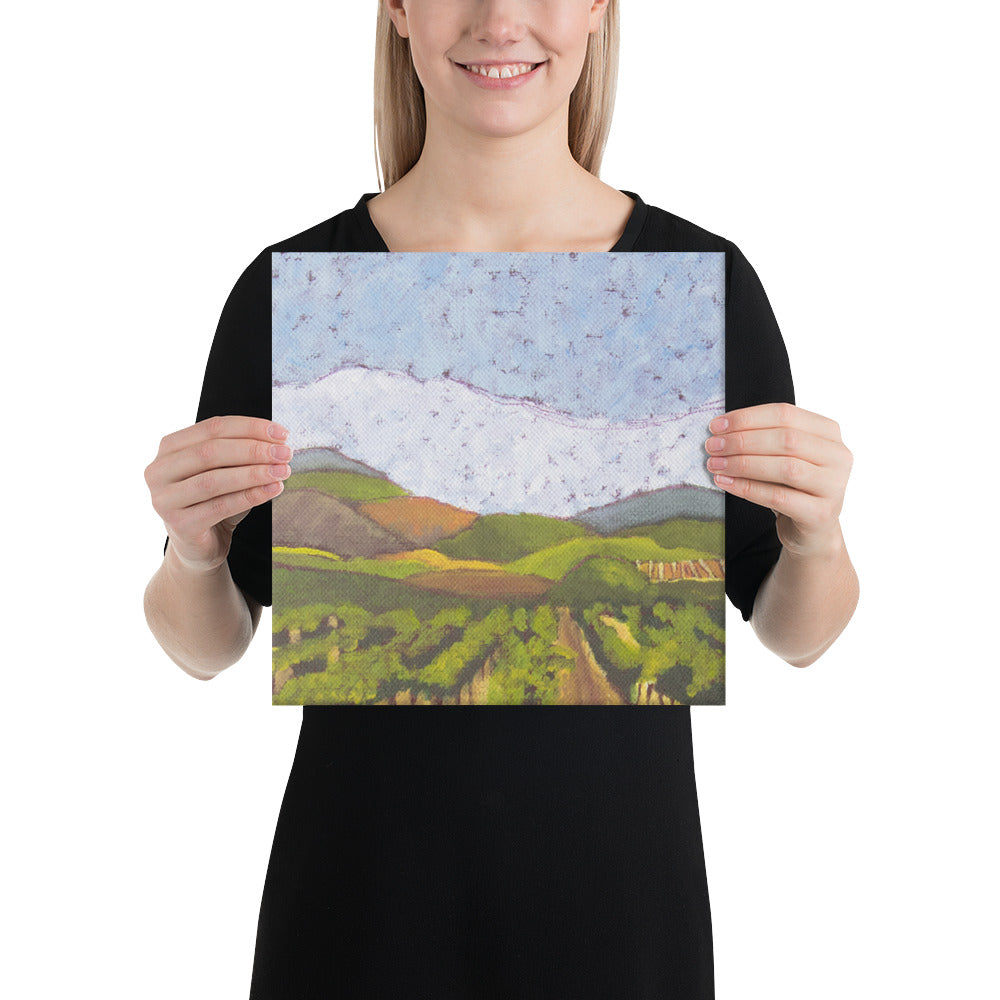 Canvas Print - Napa Valley vineyard hills - FREE SHIPPING