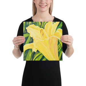 Canvas Print - Yellow Lily - FREE SHIPPING