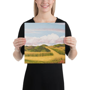 Canvas Print - Spring clouds and CA poppies 2 - FREE SHIPPING