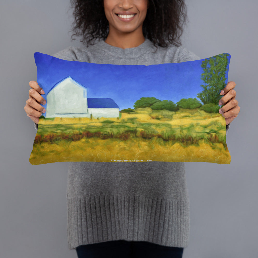 Decorative Pillow - San Juan Island Farm, WA - FREE SHIPPING