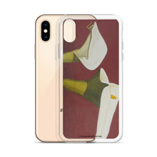 Load image into Gallery viewer, iPhone Case - White Calla Lilies on red