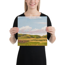 Load image into Gallery viewer, Canvas Print - Spring clouds and CA poppies 1 - FREE SHIPPING
