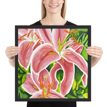 Load image into Gallery viewer, Framed Print - Stargazer Lily 1 - FREE SHIPPING