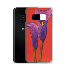 Load image into Gallery viewer, Samsung Case - Purple Calla lilies - FREE SHIPPING