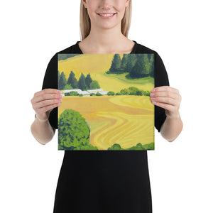 Canvas Print - Washington State farm fields in summer - FREE SHIPPING
