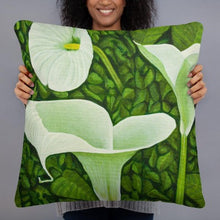 Load image into Gallery viewer, Decorative Pillow - Creamy White Calla lilies - FREE SHIPPING