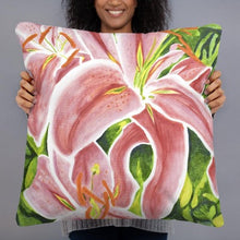 Load image into Gallery viewer, Decorative Pillow - Stargazer Lily - FREE SHIPPING