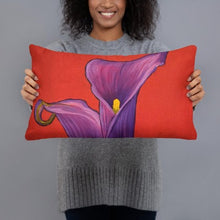 Load image into Gallery viewer, Decorative Pillow - Purple Calla Lilies - FREE SHIPPING