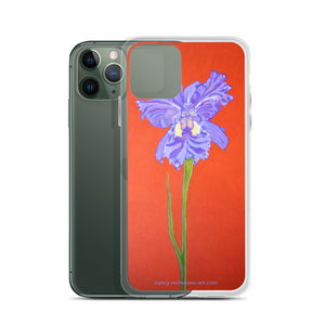 iPhone Case - Iris explosion on red - FREE SHIPPING