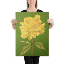 Load image into Gallery viewer, Canvas Print - Yellow Rose - FREE SHIPPING