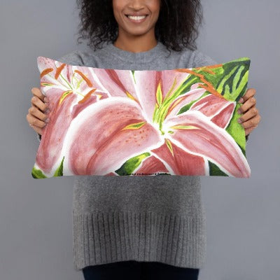 Decorative Pillow - Stargazer Lily