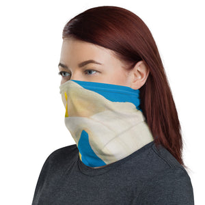 Face Cover - White Calla on Blue - FREE SHIPPING