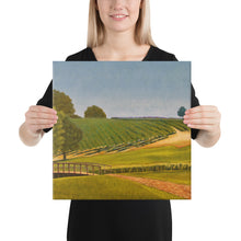 Load image into Gallery viewer, Canvas Print - Sonoma Chardonnay vineyard with footbridge - FREE SHIPPING