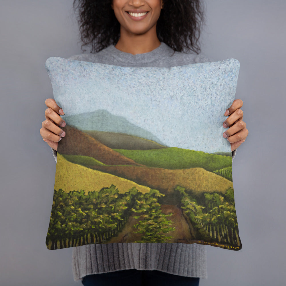 Decorative Pillow - Napa Valley vines in the fall