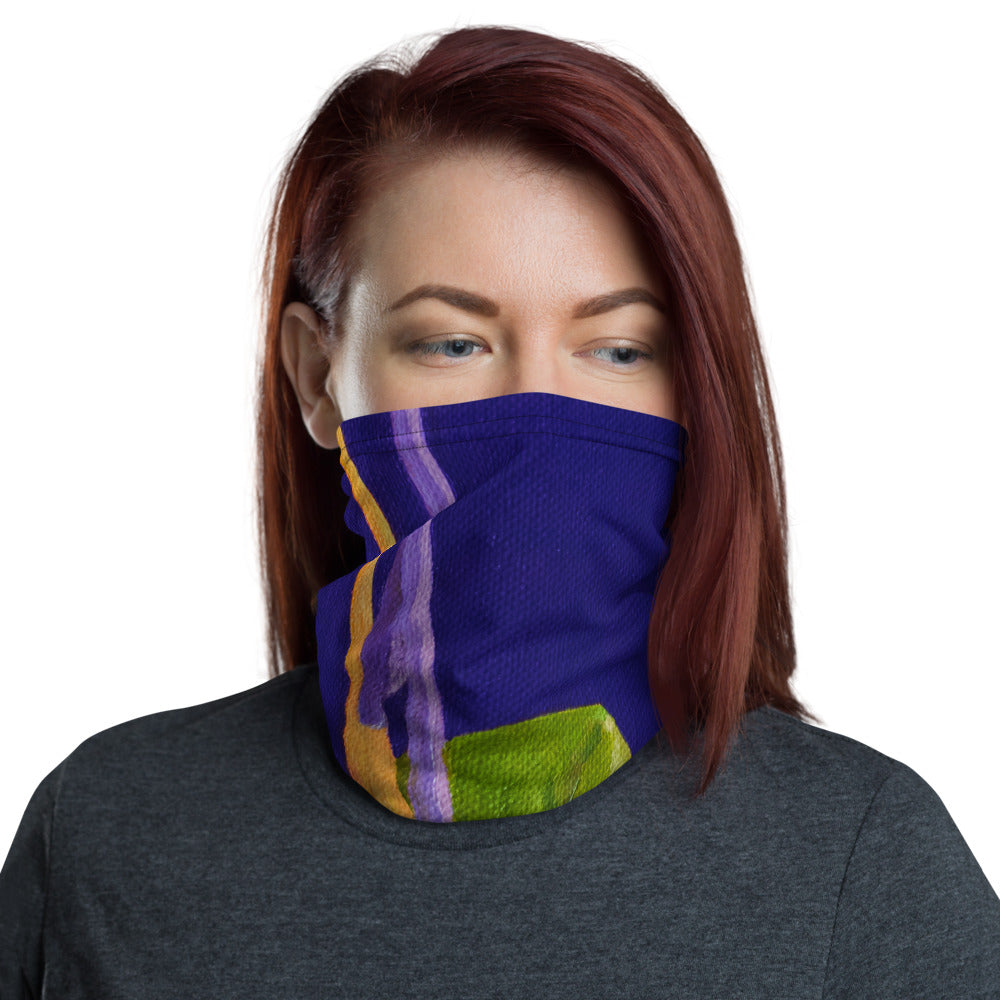 Face Cover - Bird of paradise on purple