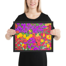 Load image into Gallery viewer, Framed print - Rainbow Garden - FREE SHIPPING