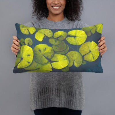 Decorative Pillow - Waterlilies 1 - FREE SHIPPING