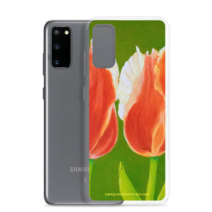 Samsung Case -Two tulips on green - FREE SHIPPING