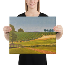 Load image into Gallery viewer, Canvas Print - Sonoma Chardonnay vineyard with footbridge