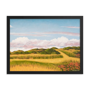 Framed poster - Spring clouds with CA poppies 2 - FREE SHIPPING