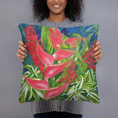 Decorative Pillow - Kauai Tropical Florals 1 - FREE SHIPPING