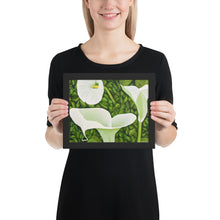 Load image into Gallery viewer, Framed Print - Creamy White Calla Lilies  - FREE SHIPPING