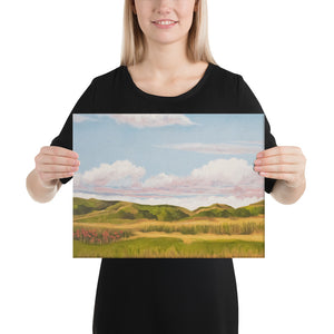 Canvas Print - Spring clouds and CA poppies 1 - FREE SHIPPING