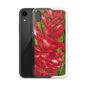 iPhone Case - Red ginger floral