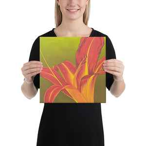 Canvas Print - Ruby Spider Daylily - FREE SHIPPING