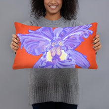 Load image into Gallery viewer, Decorative Pillow - Iris explosion on red - FREE SHIPPING