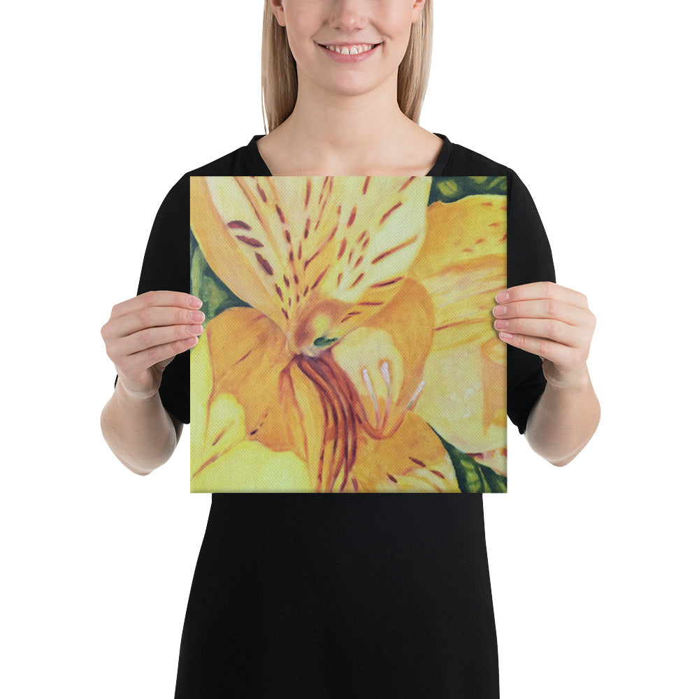 Canvas Print - Yellow Alstroemeria Lily - FREE SHIPPING