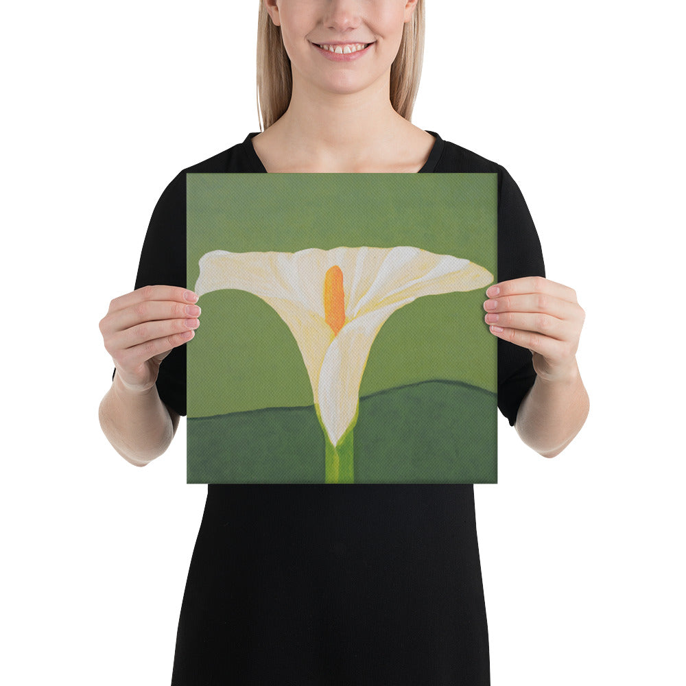 Canvas Print - White Calla lily on green - FREE SHIPPING