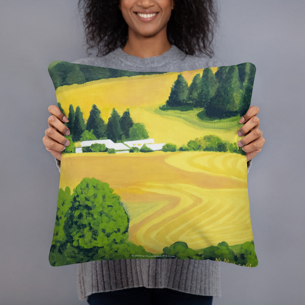 Decorative Pillow - Washington State farm fields in summer - FREE SHIPPING