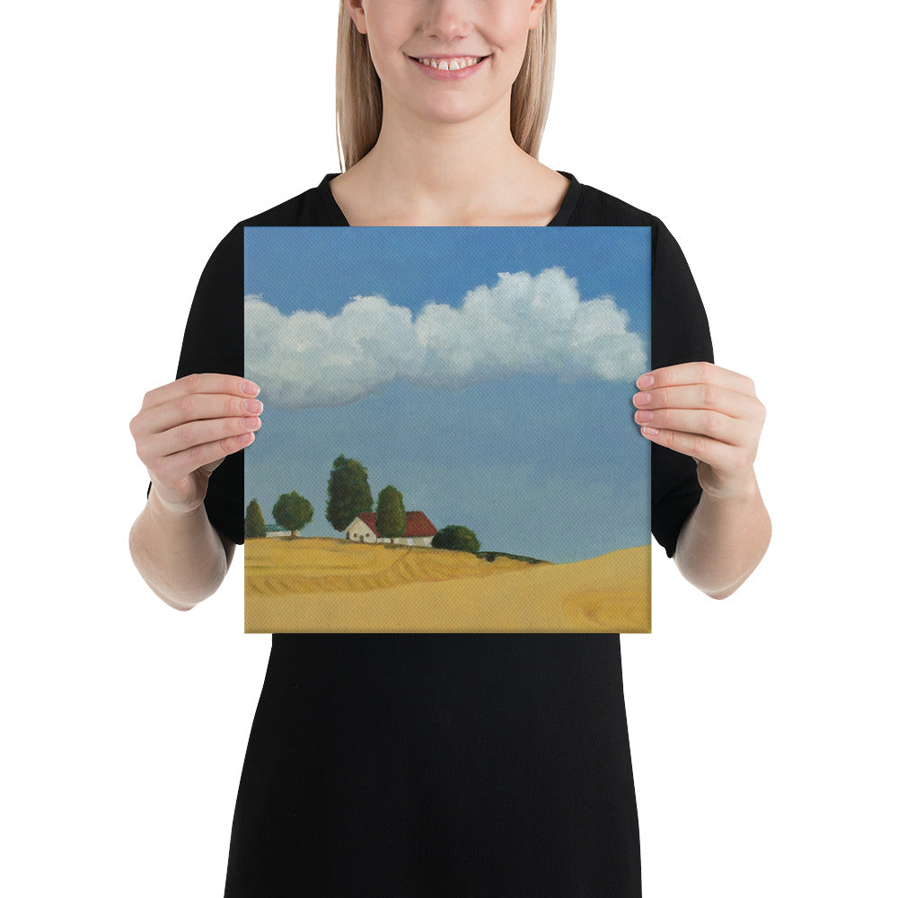 Canvas Print - Farm field near Spokane, WA - FREE SHIPPING