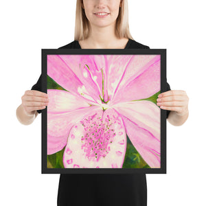 Framed Print - Light Pink Lily - FREE SHIPPING