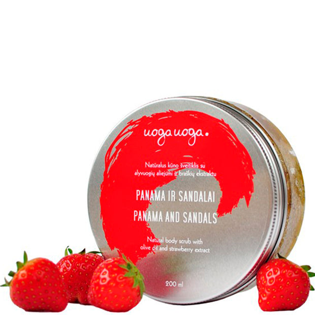 Panama & Sandals - Body Scrubs with Sugar & Strawberry Extract