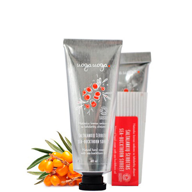 Sea-buckthorn sorbet - Hand Cream with Seabuckthorn Oil 40 ml - NUMS | Naturkosmetik & Clean Beauty | online kaufen